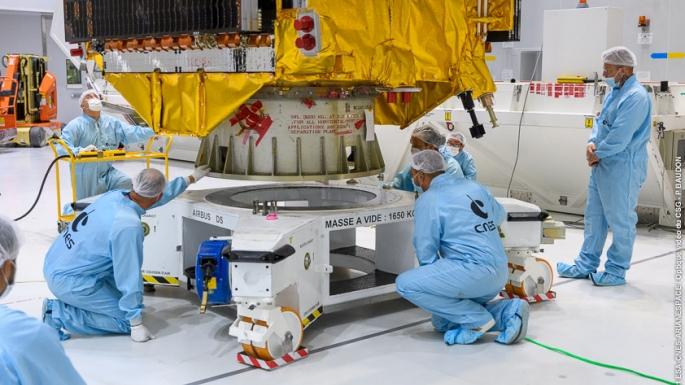 Le satellite QUANTUM est posé sur le lanceur