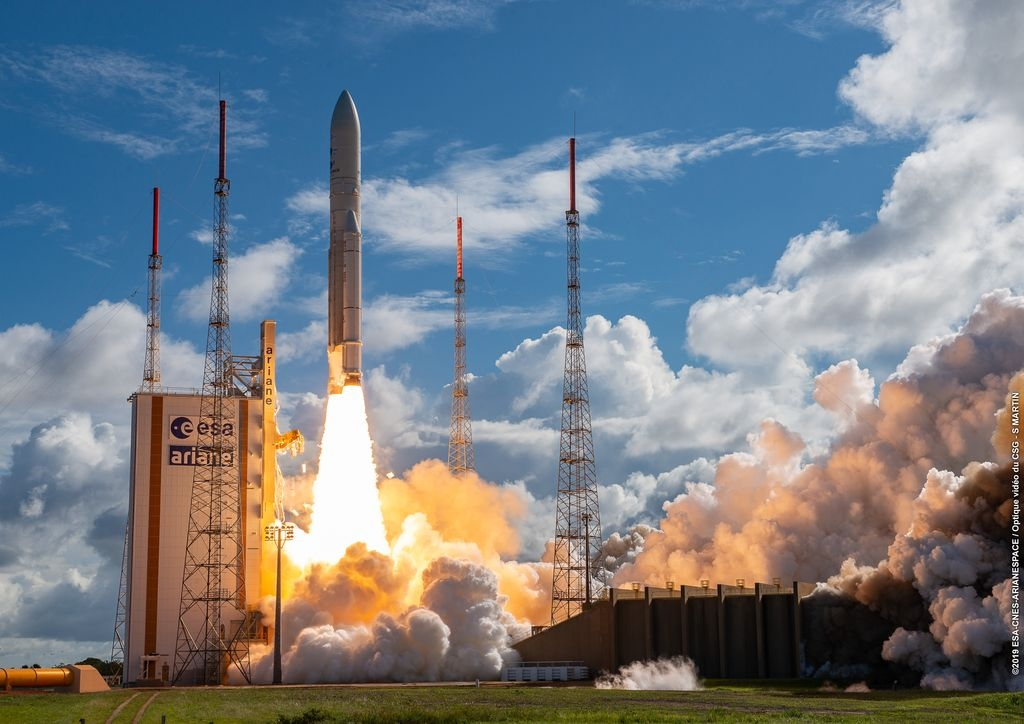 Décollage d'Ariane 5 au CSG