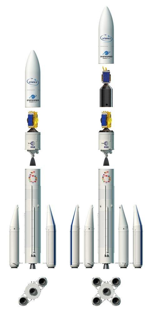 Vue éclatée d'Ariane 6