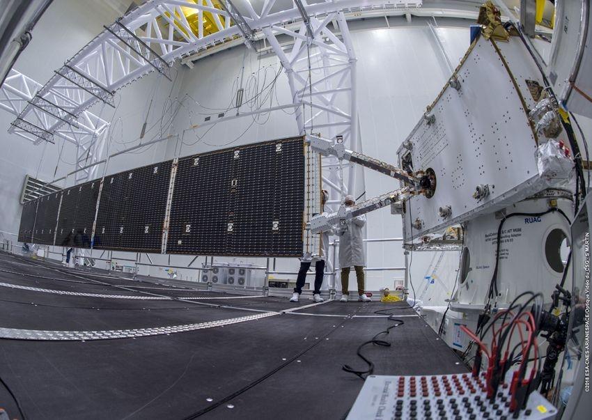 Test de déploiement des panneaux solaires de Bepi Colombo