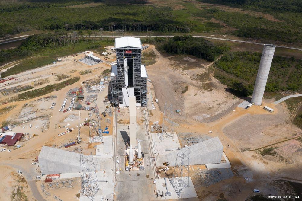 Chantier de l'ensemble de lancement d'Ariane 6