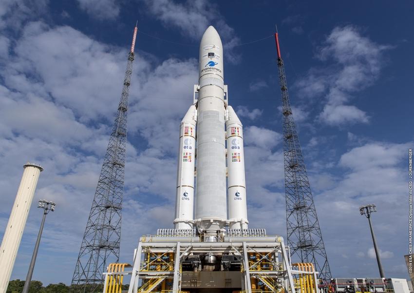 Ariane 5 VA249 en zone de lancement