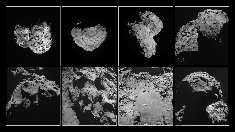Vues de la comète Tchourioumov-Guérassimenko par Rosetta