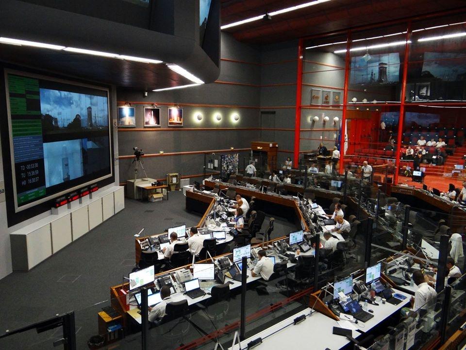 Le Centre de contrôle Jupiter 2 lors du lancement Soyouz VS22