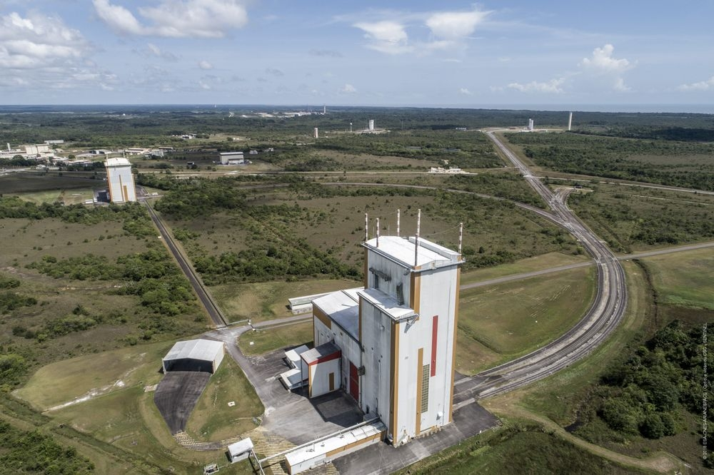 L'ensemble de lancement Ariane n°3 vu du ciel