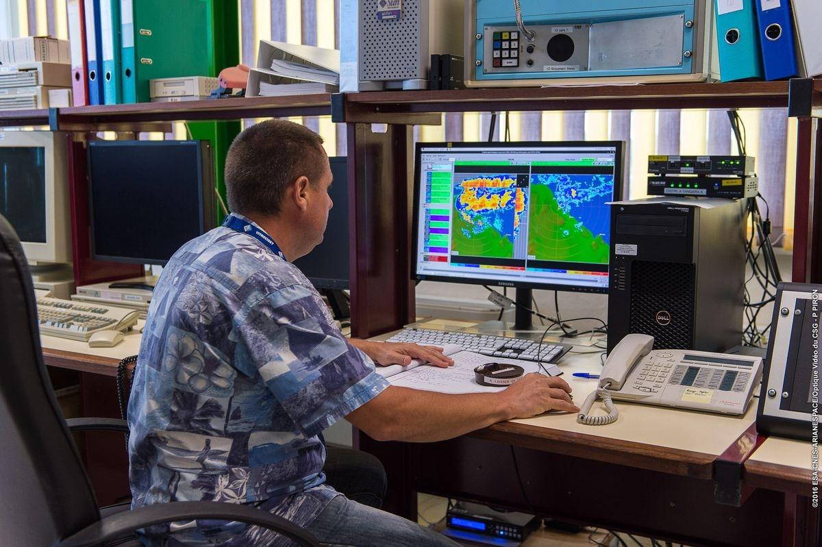 Opérateur météo au CSG