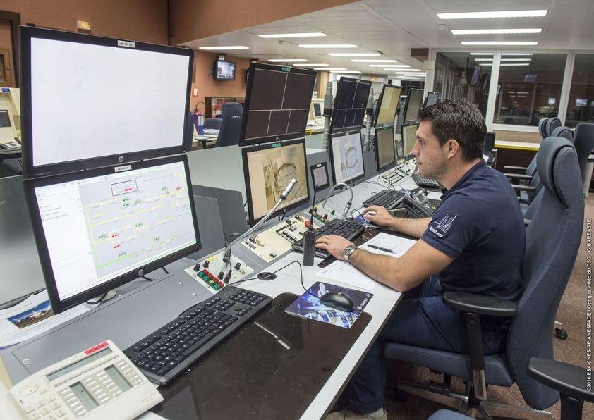 Pupitre du centre de lancement Ariane 5