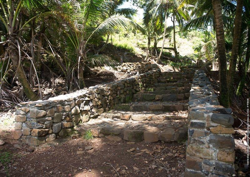 Escalier sur l'île Royale