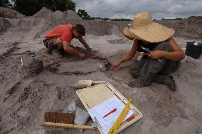 Fouilles archéo sur le chantier Soyouz
